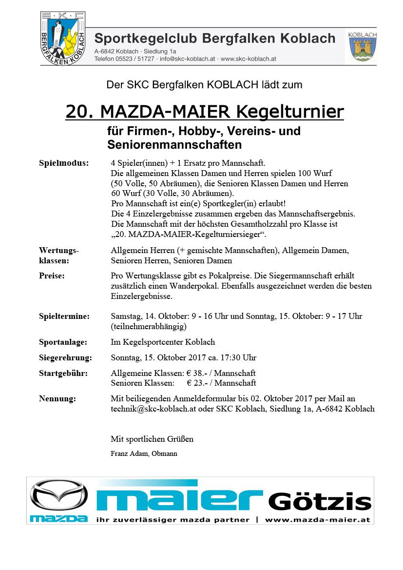 Ausschreibung 20_Mazda_Maier_Turnier_2017