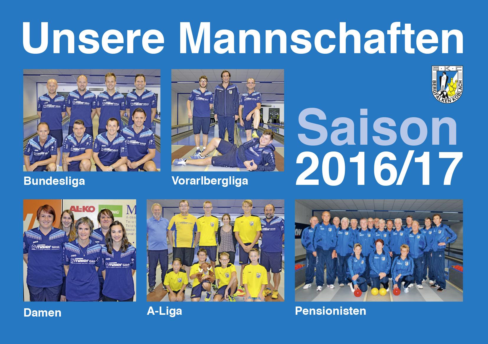 Mannschaften 16-17