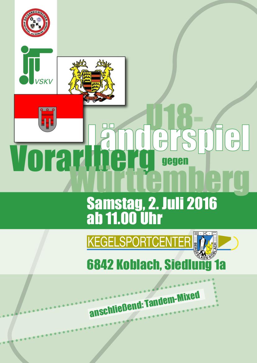 Plakat Länderspiel