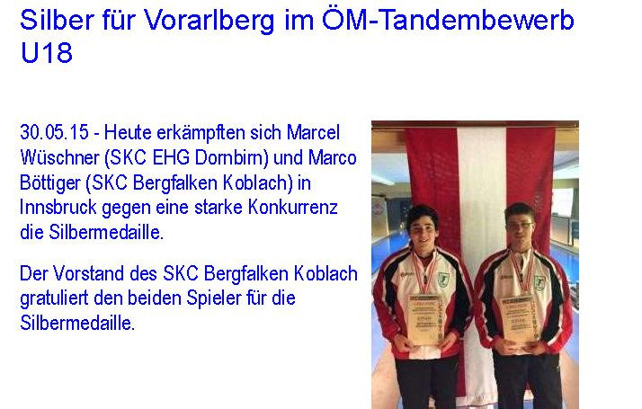 Silber für Vorarlberg im ÖM